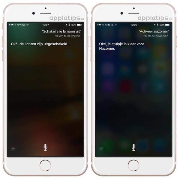 Siri gebruiken voor HomeKit Hue