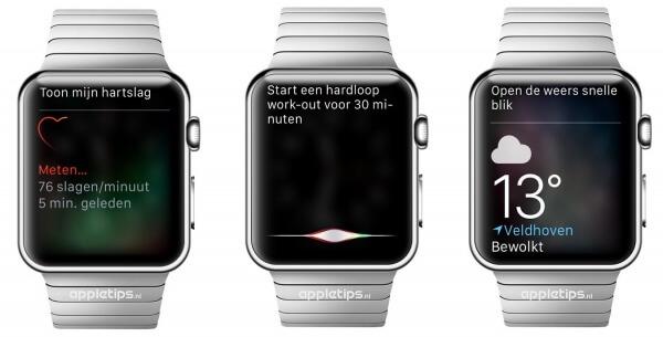 Siri op Apple Watch dankzij watchOS 2