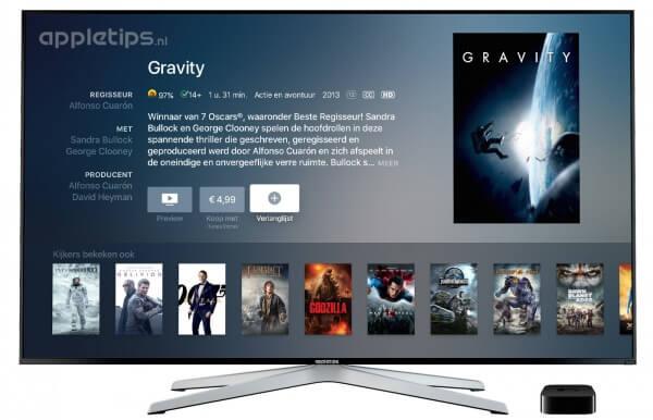 verlanglijst aanmaken Apple TV