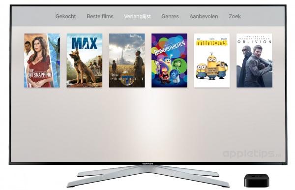 verlanglijst bekijken Apple TV