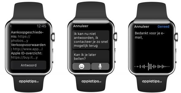 Mail beantwoorden Apple Watch