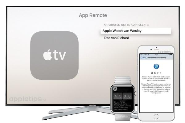 Apparaat koppelen Apple TV