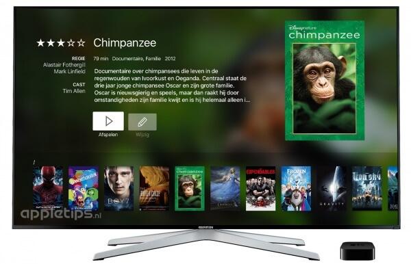 Infuse op de apple tv