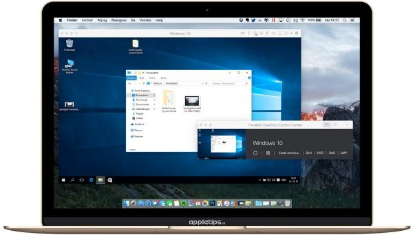 Een overzicht van Windows 10 op een Mac met parallels