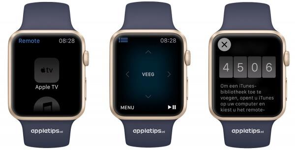 Apple TV remote Apple Watch