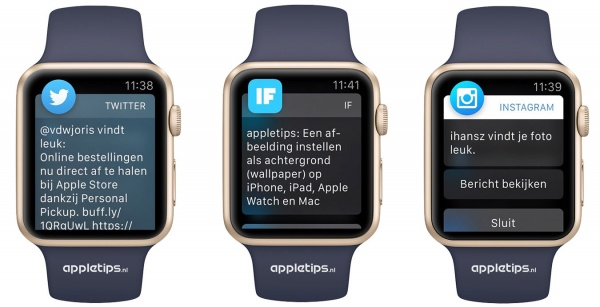 Meldingen Apple Watch rond