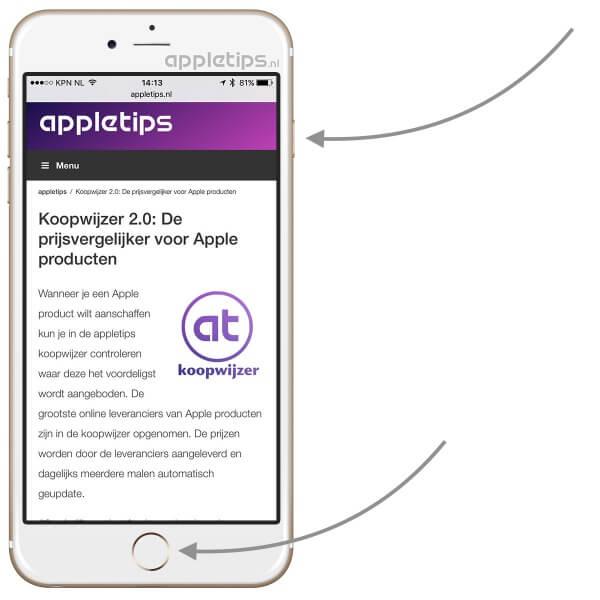 Schermafbeelding (screenshot) maken op iPhone, iPad (iOS)
