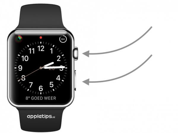Schermafbeelding (screenshot) maken op Apple Watch (watchOS)