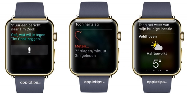 Siri voorbeelden Apple Watch