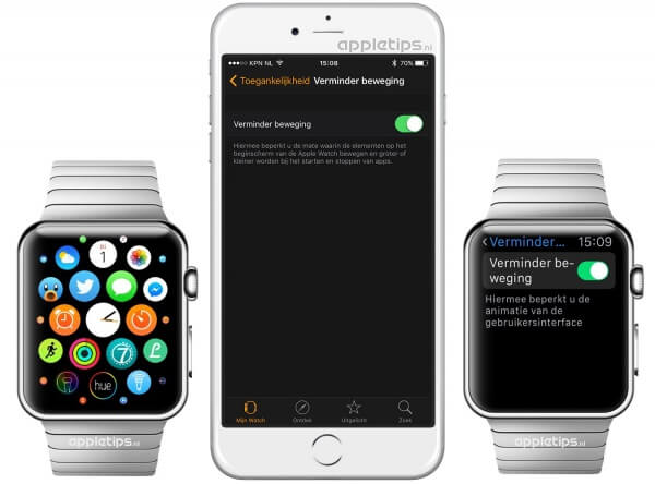 Verminder bewegingen Apple Watch