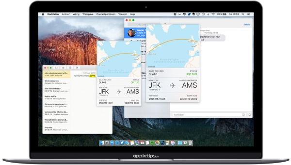 Vluchtinformatie iOS X