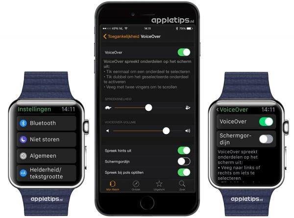 Voiceover Apple Watch