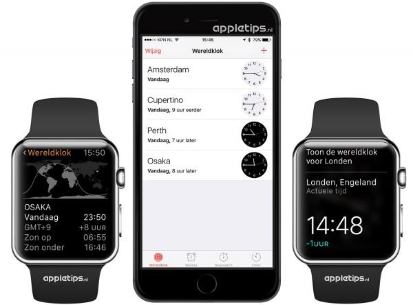 Wereldklokken toevoegen Apple Watch