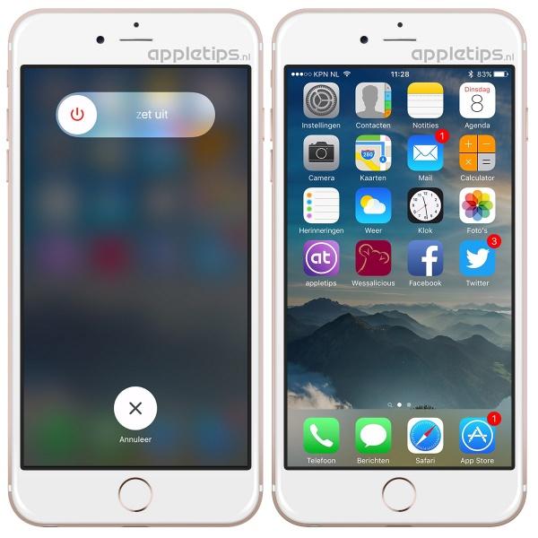 werkgeheugen herstellen iOS