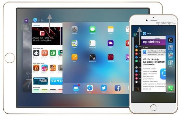 Applicatie afsluiten op een iPhone en iPAd