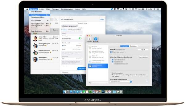 iMessage instellingen voor OS X op de Mac