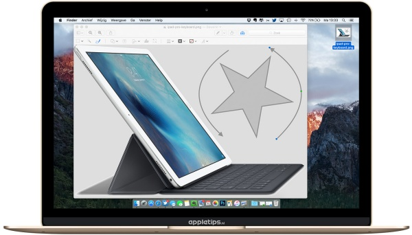 Markeringen draaien in OS X