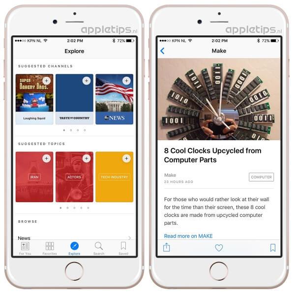 News app voorbeeld