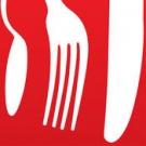 Het rode logo van receptenmaker