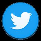 het nieuwe twitter icoon, met blauwe achtergrond en witte vogel