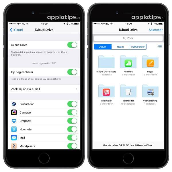 iCloud Drive applicatie in iOS 9
