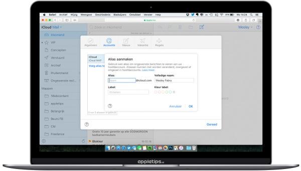 Alias aanmaken voor iCloud Mail