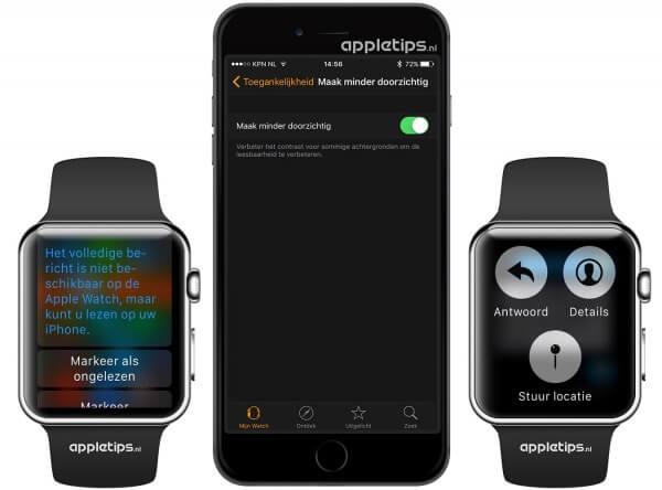 doorzichtigheid op Apple Watch aanpassen