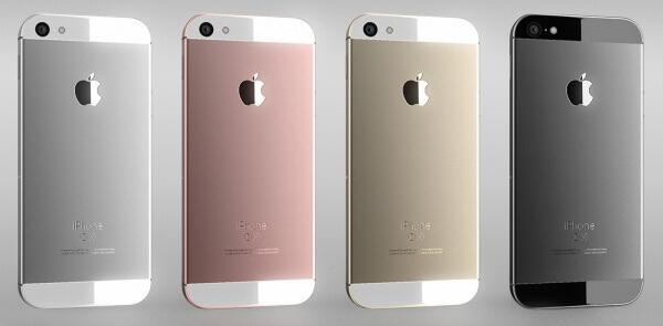 iphone 5se concept achterkant en kleuren