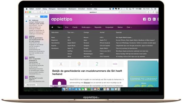 Koppelingen in OS X bekijken en gebruiken in Safari