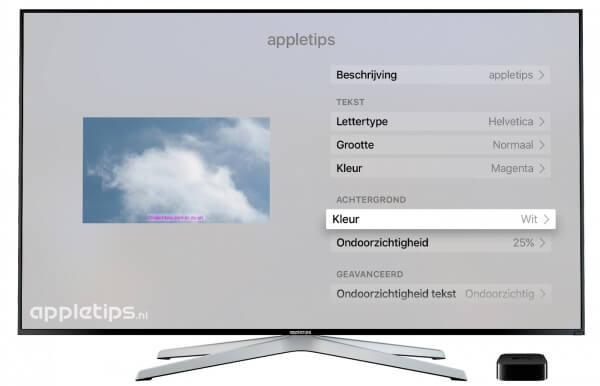 Maak je eigen ondertiteling op de Apple TV