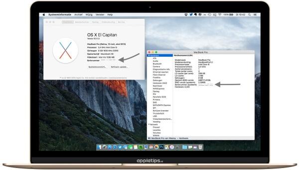 Serienummer van je Mac achterhalen met over deze mac