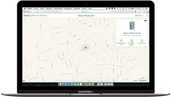 iPhone op afstand wissen