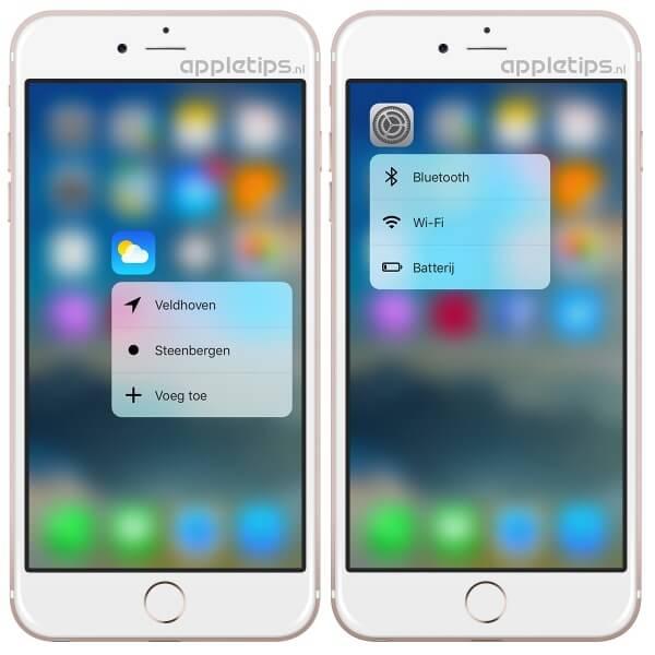 3d Touch nieuw ios 9.3