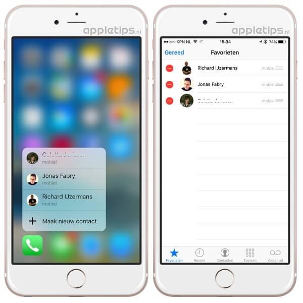 3d touch telefoon app aanpassen