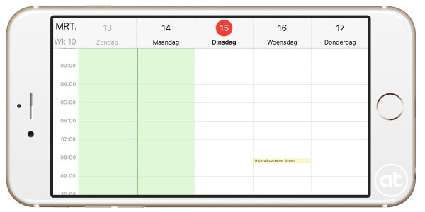 Weekweergave activeren in iOS