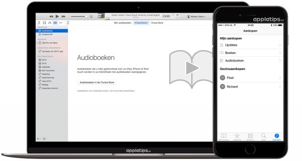 Audioboeken opnieuw downloaden in iTunes
