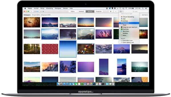 delen OS X van foto's