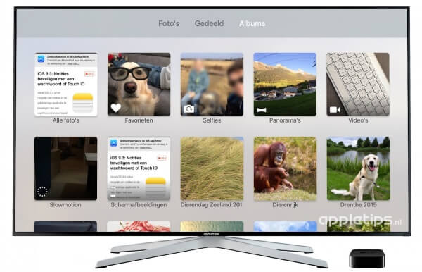voorbeeld iCloud fotobibliotheek inschakelen in tvOS 9.2