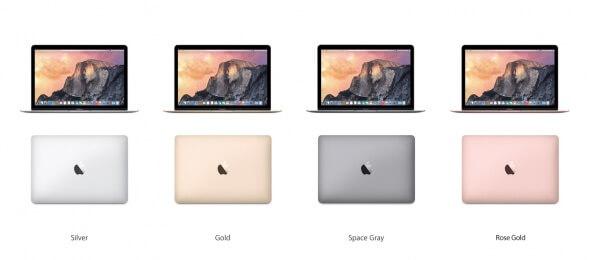 MacBook rosegoud voorbeeld