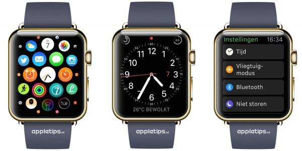 laatst gebruikte app openen op Apple Watch