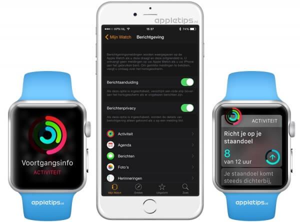 Apple Watch inhoud van meldingen verbergen in watchOS
