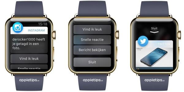 meldingen op de apple watch sluiten of verbergen