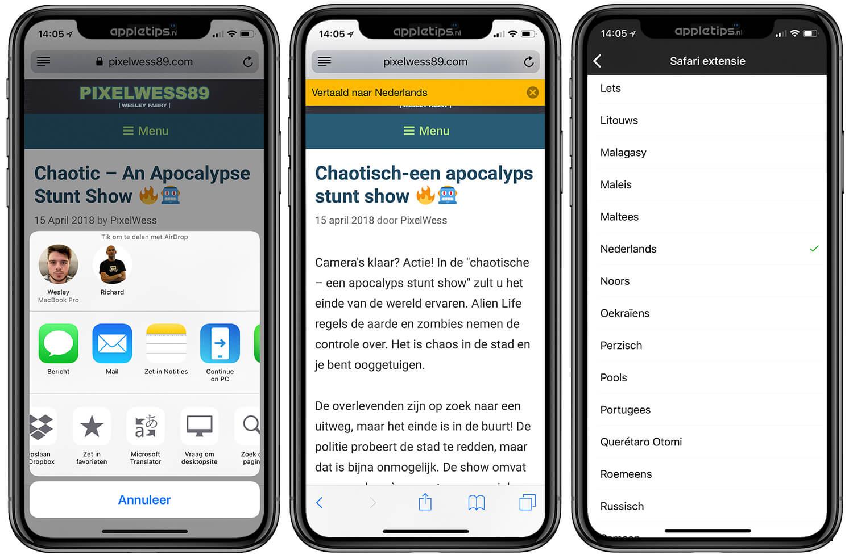 Websites vertalen met Microsoft Translator (iOS) - appletips