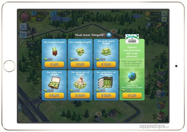 SimCity en Apps voor de Aarde
