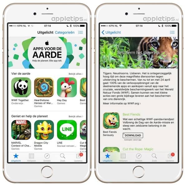 apps voor de aarde speciaal voor WWF