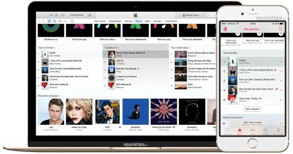 Hitlijsten bekijken in Apple Music