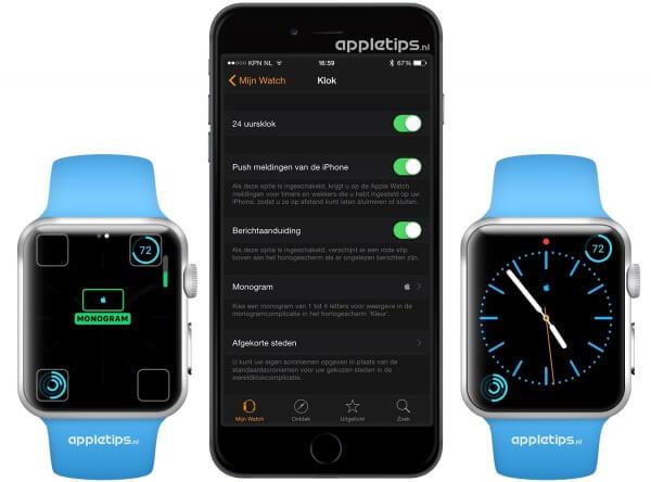 Apple logo toevoegen aan Apple Watch wijzerplaat