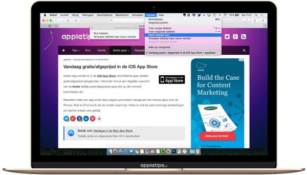 pinned sites gebruiken in Safari voor OS X