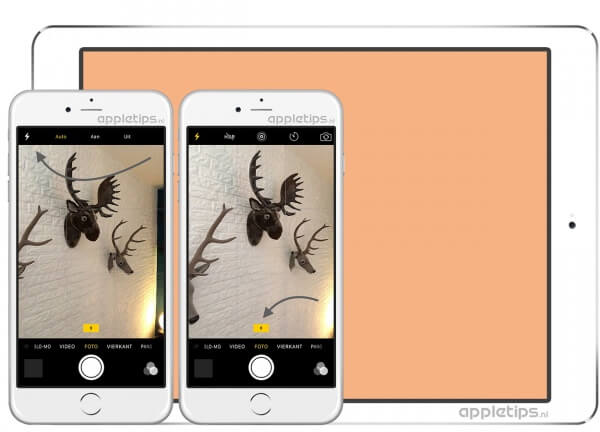 Voorbeeld van Retina Flash flitser iPhone 6s, SE en iPad Pro