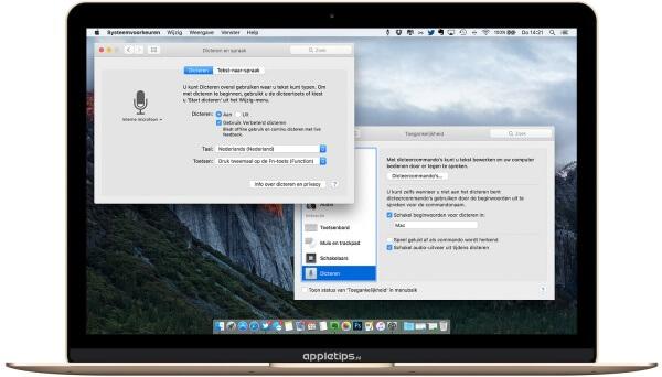 Spraakcommando's op een mac gebruiken OS X el capitan